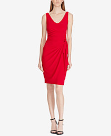 Lauren Ralph Lauren Petite Shirred Jersey Dress