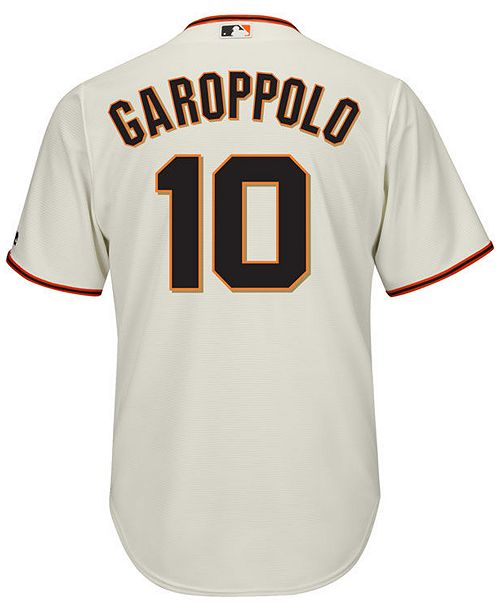 3a9eaabd8bf ... Majestic Men s Jimmy Garoppolo San Francisco Giants NFLPA Replica Cool  Base Jersey ...