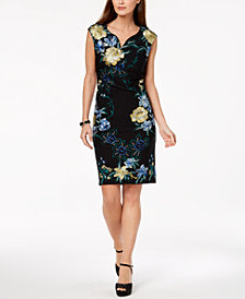 Thalia Sodi Embroidered Sheath Dress, Created for Macy's