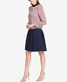 Tommy Hilfiger Plaid Jacket & Pleated Skirt