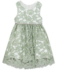 Rare Editions Toddler Girls Embroidered Lace Dress