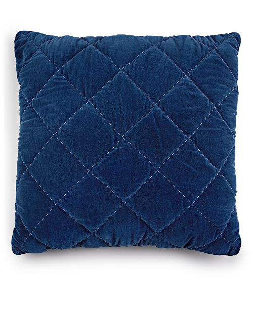 """Martha Stewart Collection Quilted Velvet 26"""" Square Euro Pillow, Created for Macy's"""