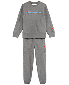 Champion Little Boys Heritage Sweatshirt & Jogger Pants Separates