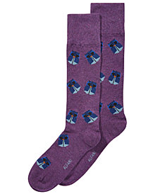 AlfaTech by Alfani Men's Origami Owl Dress Socks, Created for Macy's