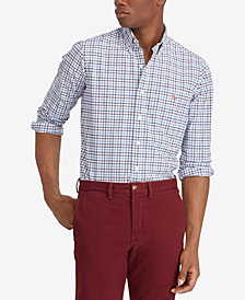 Polo Ralph Lauren Men's Big & Tall Classic Fit Plaid Cotton Oxford Shirt