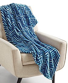 "CLOSEOUT! Cozy Plush 50"" x 70"" Throw, Created for Macy's"