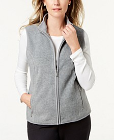 Petite Princess-Seam Zeroproof Zip-Front Vest, Created for Macy's