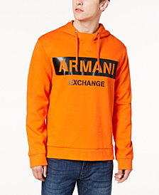 A|X Armani Exchange Men's Oversized Logo-Print Hoodie