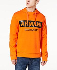 A|X Armani Exchange Men's Oversized Logo-Print Hoodie