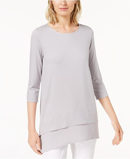 Macy's Fisher Created Sleeve Eileen 4 Dark Top for Stretch Pearl Jersey 3 wdUAWWzpq