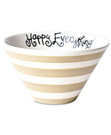 Happy Everything by Laura Johnson Collection Cobble Stripe Be Happy Mod Small Bowl