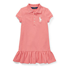 Polo Ralph Lauren Toddler Girls Short-Sleeve Big Pony Dress