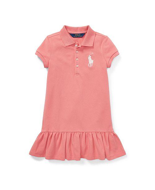 06f33272a4e66 Polo Ralph Lauren Toddler Girls Short-Sleeve Big Pony Dress ...