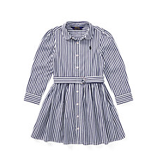 Polo Ralph Lauren Little Girls Striped Cotton Shirtdress