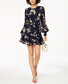 Bardot Floral-Print Mini Dress