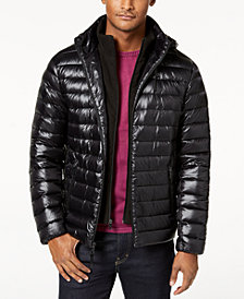 Calvin Klein Men's Big & Tall Packable Down Puffer Jacket with Fleece Bib