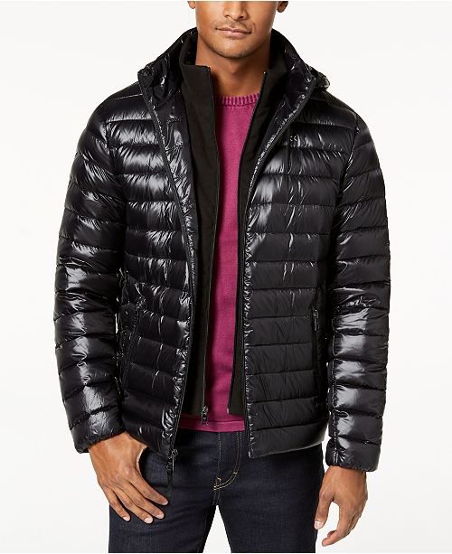 c57f850d54b Calvin Klein Men's Packable Down Hooded Puffer Jacket & Reviews ...