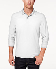 Club Room Men's Long-Sleeve Polo, Created for Macy's