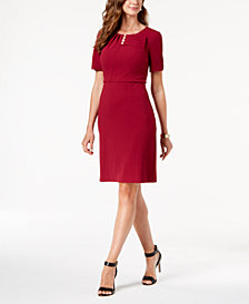 Ivanka Trump Imitation-Pearl Sheath Dress