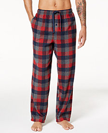 Perry Ellis Men's Buffalo Plaid Flannel Pajama Pants