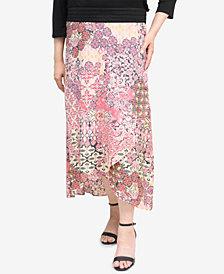 NY Collection Tuwa Tulip-Hem Skirt