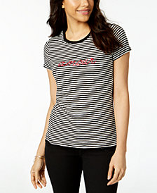 Maison Jules Striped Amour T-Shirt, Created for Macy's