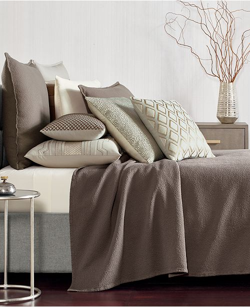 Hotel Collection CLOSEOUT! Como Cotton Full/Queen Coverlet, Created for Macy's