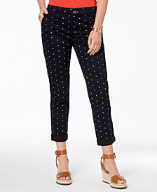 Tommy Hilfiger Printed Pants, Created for Macy's