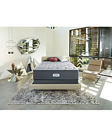 "Beautyrest Platinum Preferred Cedar Ridge 14.5"" Luxury Firm Mattress Set - Queen Split"