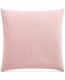Charter Club Damask Designs Diamond Dot Cotton 300-Thread Count European Sham, Created for Macy's