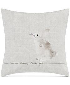 ED Ellen Degeneres Some Bunny Loves You Square Decorative Pillow