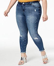 Celebrity Pink Plus Size Embellished Skinny Jeans