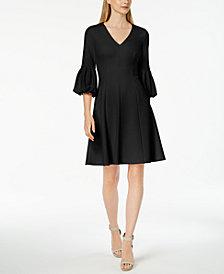 Calvin Klein Statement-Sleeve A-Line Dress