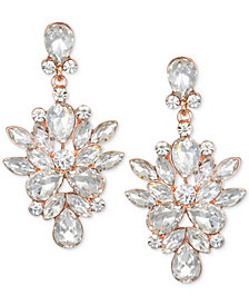 Jewel Badgley Mischka Rose Gold-Tone Crystal Chandelier Earrings