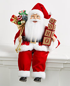 Holiday Lane Red & White Sitting Santa, Created for Macy's