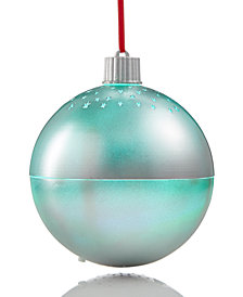Holiday Lane Silver Ornament with Cut-Out Stars & Bluetooth Function, Created for Macy's