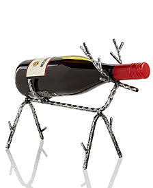 Holiday Lane Reindeer Wine Bottle Holder, Created for Macy's