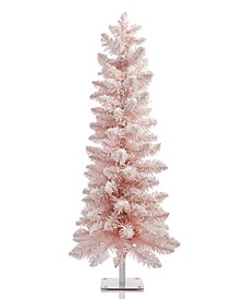 Shimmer and Light 3FT Pink Flocked Tree , Created for Macys