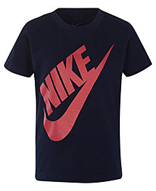 Nike Toddler Boys Jumbo Futura Graphic-Print Cotton Shirt