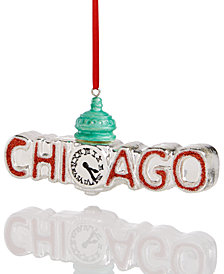 Holiday Lane Red Chicago Ornament, Created for Macy's