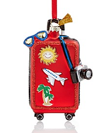 At the Beach Travel Luggage  Ornament Created for Macy's