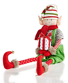 Holiday Lane Fabric Elf Ornament, Created for Macy's