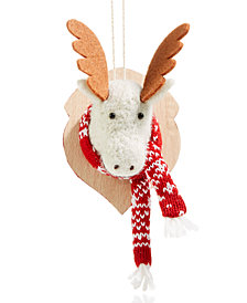 Holiday Lane Moose Head with Scarf Ornament, Created for Macy's