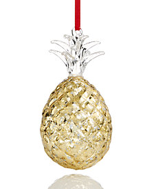 Holiday Lane Gold Pineapple Ornament, Created for Macy's