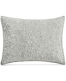 Martha Stewart Collection Velvet Flourish Quilted Standard Sham, Created for Macy's