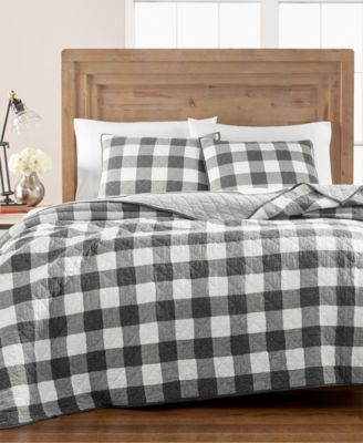 Box Plaid Reversible Yarn-Dyed Twin Quilt, Created for Macy's