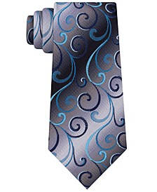 Men's Swirly Vines Silk Tie