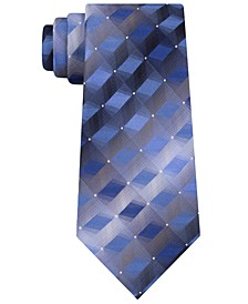 Men's 3-D Geometric Tonal Silk Tie