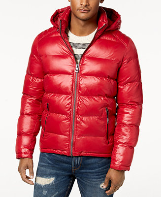 Guess Men S Hooded Puffer Coat Coats Amp Jackets Men