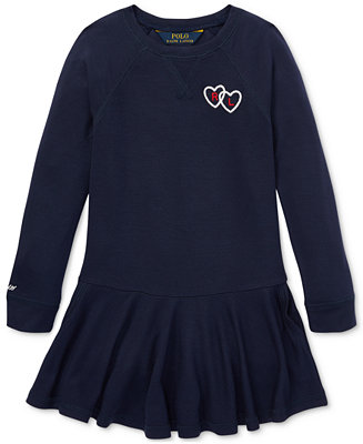41f70a50b68f5 Polo Ralph Lauren Toddler Girls French Terry Dress   Reviews - Dresses -  Kids - Macy s